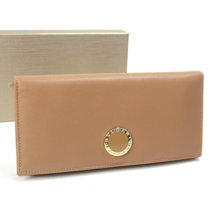 【中古】ブルガリ 長財布 33625 BVLGARI ブラウン レディース 【送料無料】【美品】
