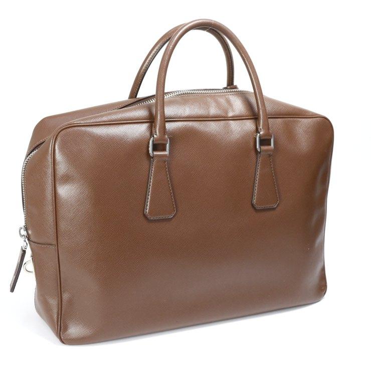 【中古】プラダ ビジネスバッグ VS0088 PRADA ブラウン メンズ かばん ブリーフケース 【送料無料】