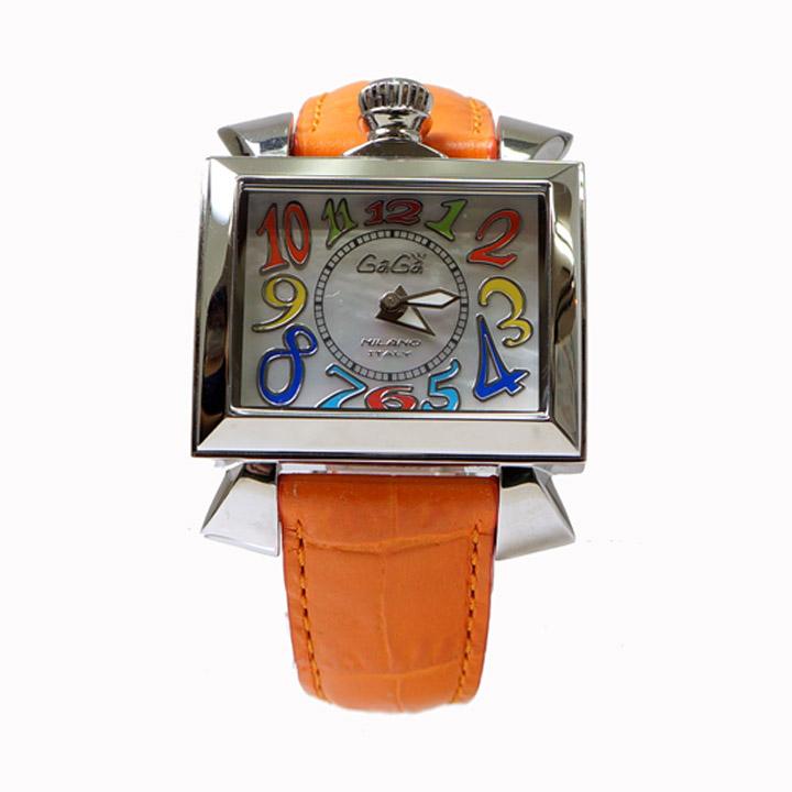 【キャッシュレス5%還元】【中古】ガガミラノ レディース腕時計 ナポレオ‐ネ 40 6030.1 クォーツ シェル文字盤 GaGaMILANO [送料無料]