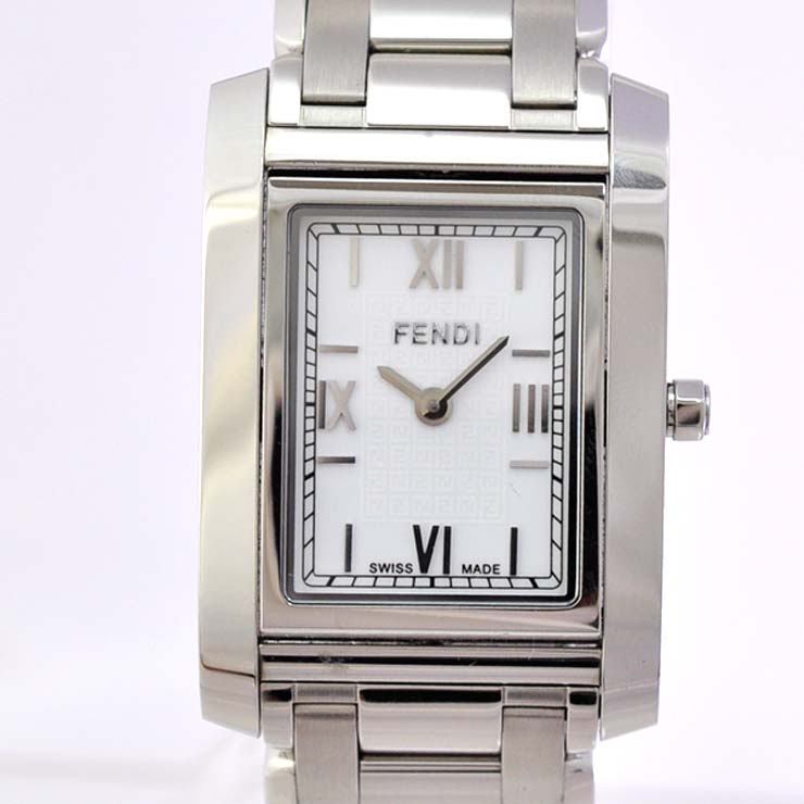 【中古】フェンディ レディース腕時計 ステンレススチール クオーツ 文字盤ホワイト 7600L FENDI [送料無料]