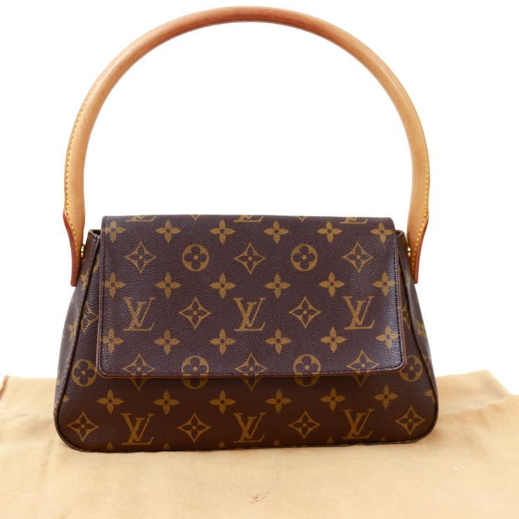 cdea850504891 Louis Vuitton shoulder bag mini-looping monogram brown M51147 LOUISVUITTON  ...