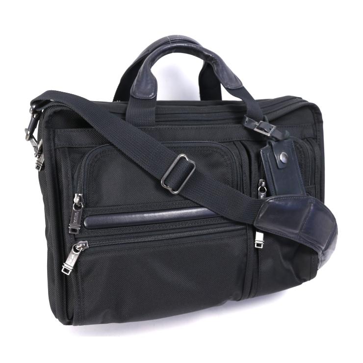【中古】トゥミ 2WAYビジネスバッグ キャンバス メンズ ブラック PCバッグ TUMI [送料無料]