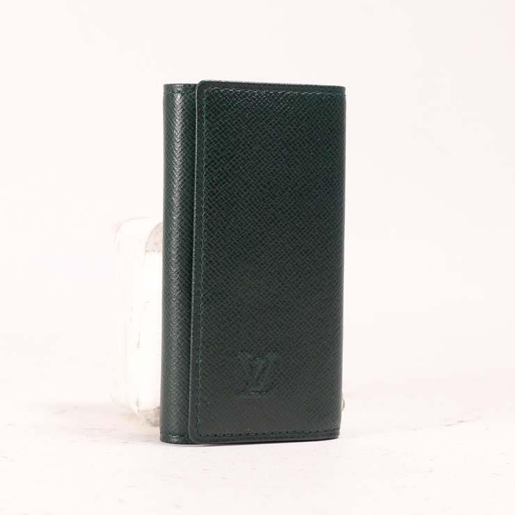 【中古】ルイヴィトン 4連キーケース タイガ ミュルティクレ4 ダークグリーン M30522 LOUIS VUITTON [送料無料]