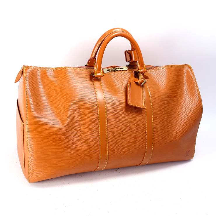 【中古】ルイヴィトン ボストンバッグ キーポル50 エピ ジパングゴールド 旅行バッグ M42968 LOUIS VUITTON [送料無料]