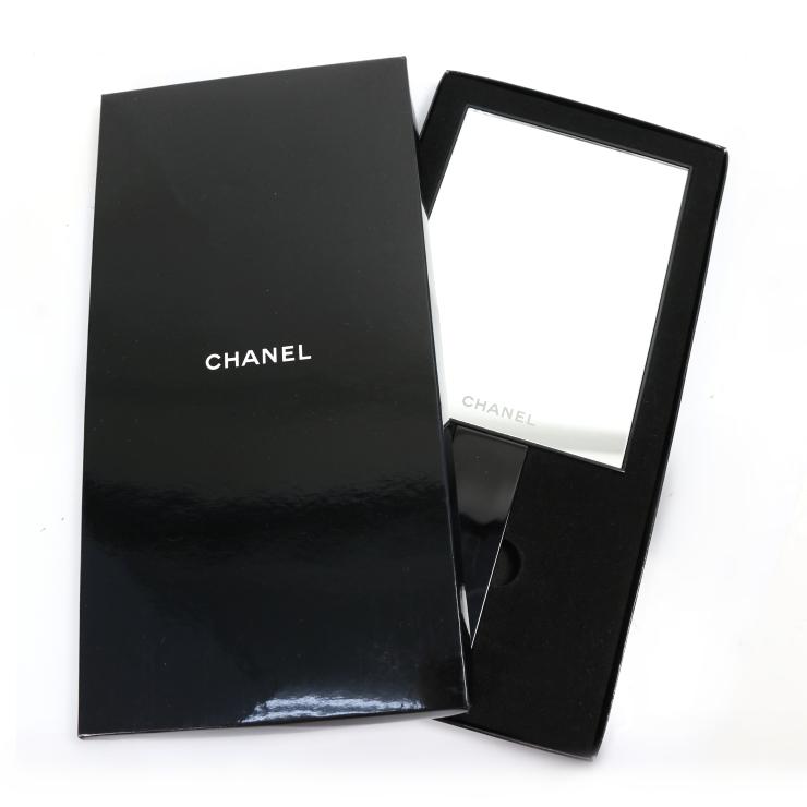 【中古】シャネル ハンドミラー ブラック 鏡 CHANEL [送料無料][美品]
