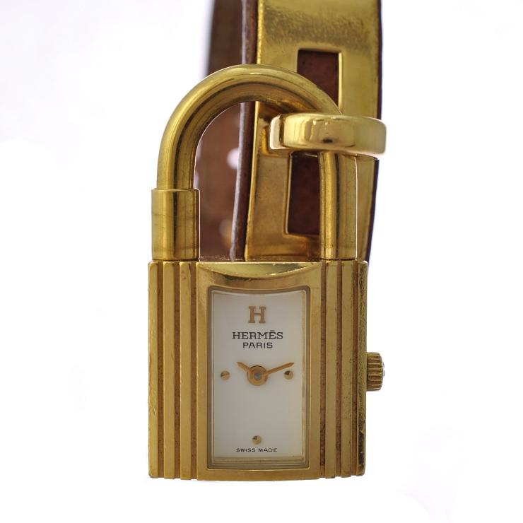 【中古】エルメス ケリーウォッチ レディース腕時計 クオーツ □A刻印 文字盤ホワイト HERMES [送料無料]