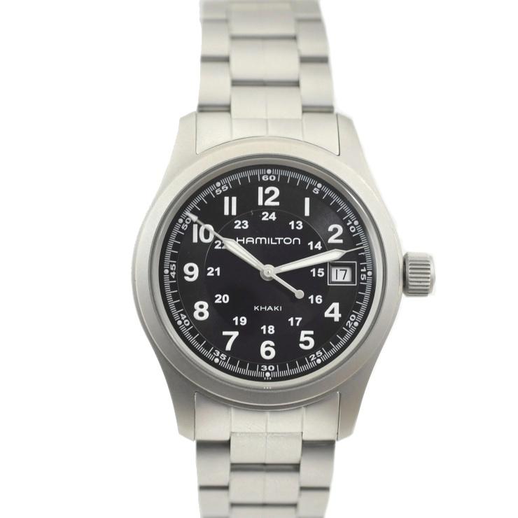【中古】ハミルトン メンズ腕時計 カーキフィールド ブラック文字盤 ステンレススチール H68411133 HAMILTON [送料無料]