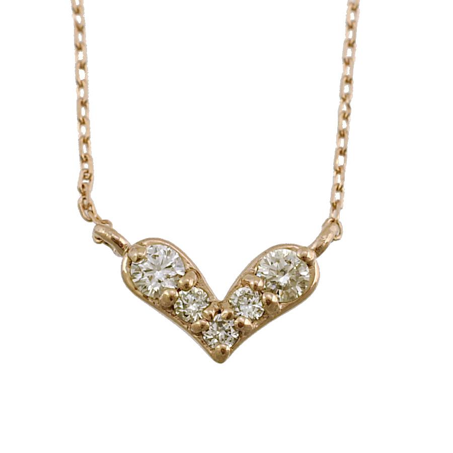 【キャッシュレス5%還元】【新品】ペンダント K10ピンクゴールド ダイヤモンド 0.04ct ハートモチーフ レディースジュエリー【送料無料】