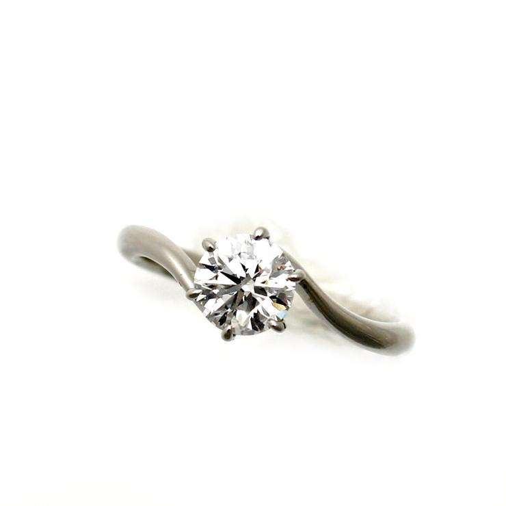 【キャッシュレス5%還元】リング プラチナ900 ダイヤモンド Pt900 一粒 サイズ : 9号 ソーティング付【中古】【送料無料】