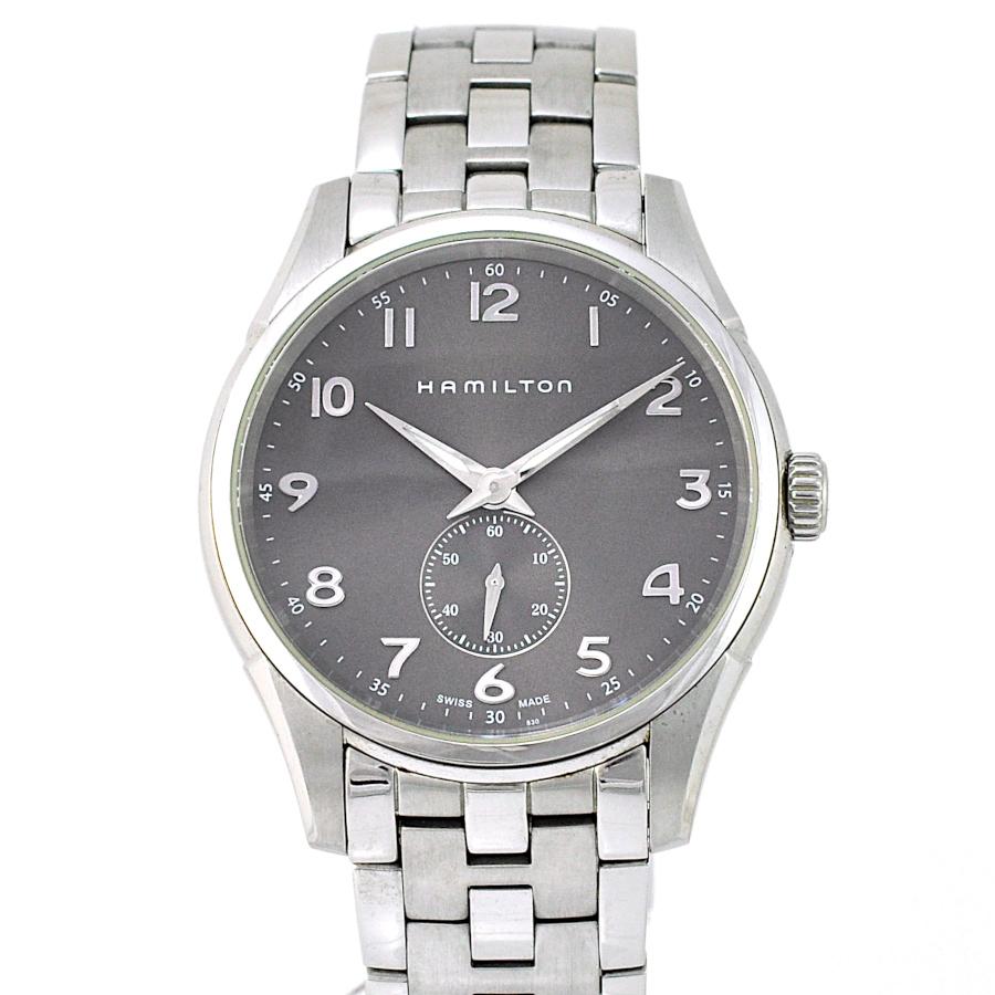 【中古】ハミルトン ジャズマスター シンライン メンズ 腕時計 クオーツ ステンレススチール H384110 HAMILTON [送料無料]