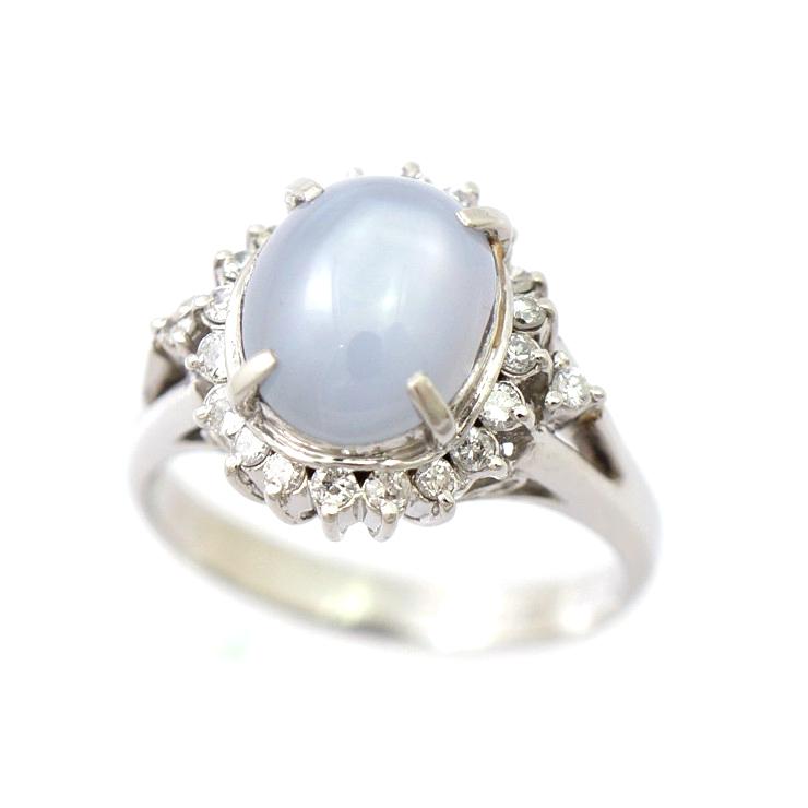 【キャッシュレス5%還元】指輪 リング Pt900 スターサファイア 4.25ct ダイヤモンド 0.26ct レディース [送料無料]