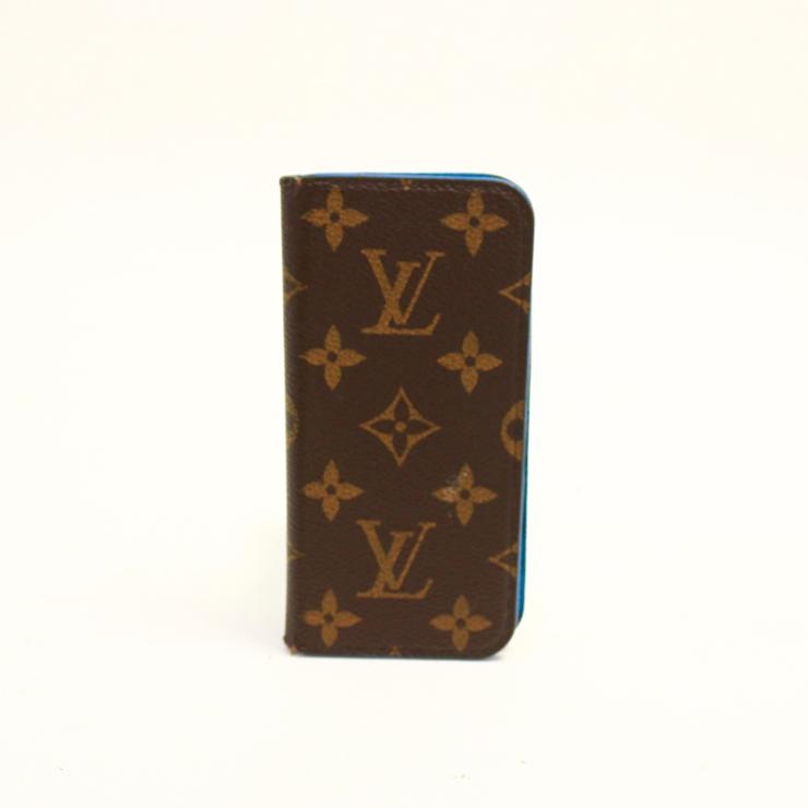【中古】ルイヴィトン iPhoneケース iPhone6フォリオ モノグラム ブラウン LOUIS VUITTON[送料無料]
