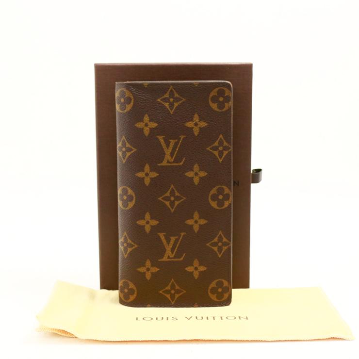 【中古】ルイヴィトン 財布 長財布 二つ折り ポルトフォイユブラザ M66540 モノグラム ブラウン LOUIS VUITTON[送料無料]