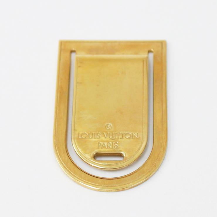 【中古】ルイヴィトン マネークリップ パンス・ア・ビエ・ポルトアドレス M64690 ゴールド LOUIS VUITTON[送料無料]