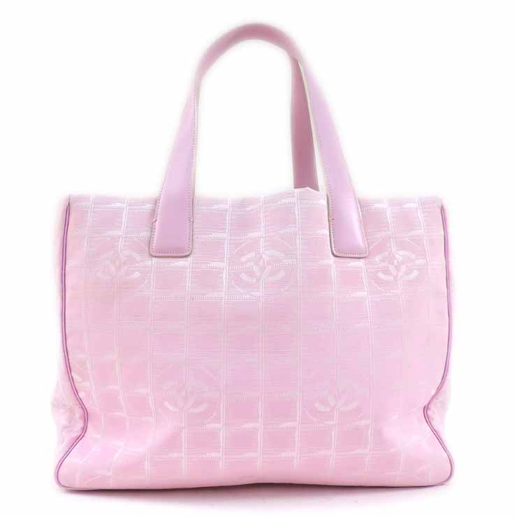 19b3feb64e8b It is Chanel tote bag current style bell line canvas pink CHANEL  used