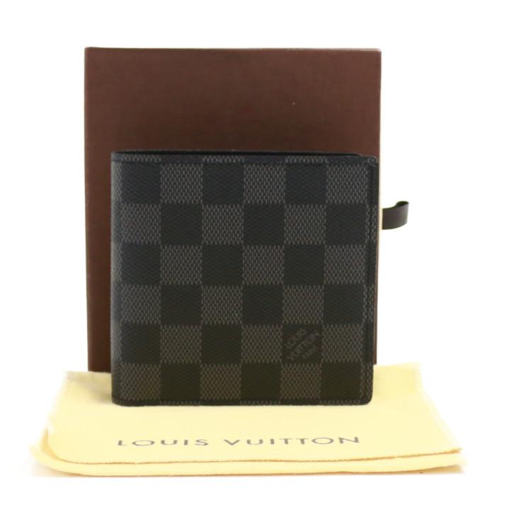 【中古】ルイヴィトン 財布 二つ折り ポルトフォイユマルコ N62664 ダミエグラフィット グレー LOUIS VUITTON[送料無料]