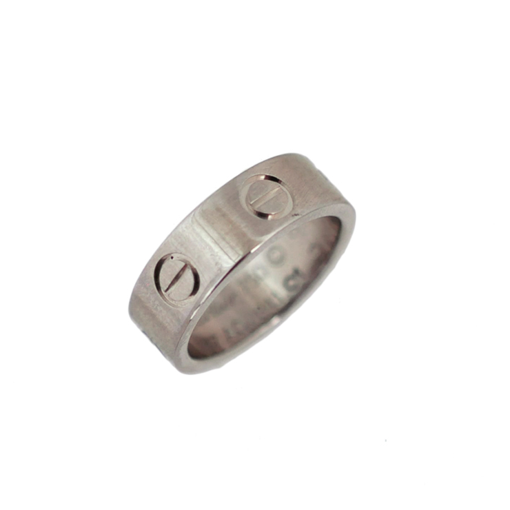 【中古】カルティエ 指輪 ラブリング K18ホワイトゴールド 750 サイズ7号 レディース Cartier[送料無料]