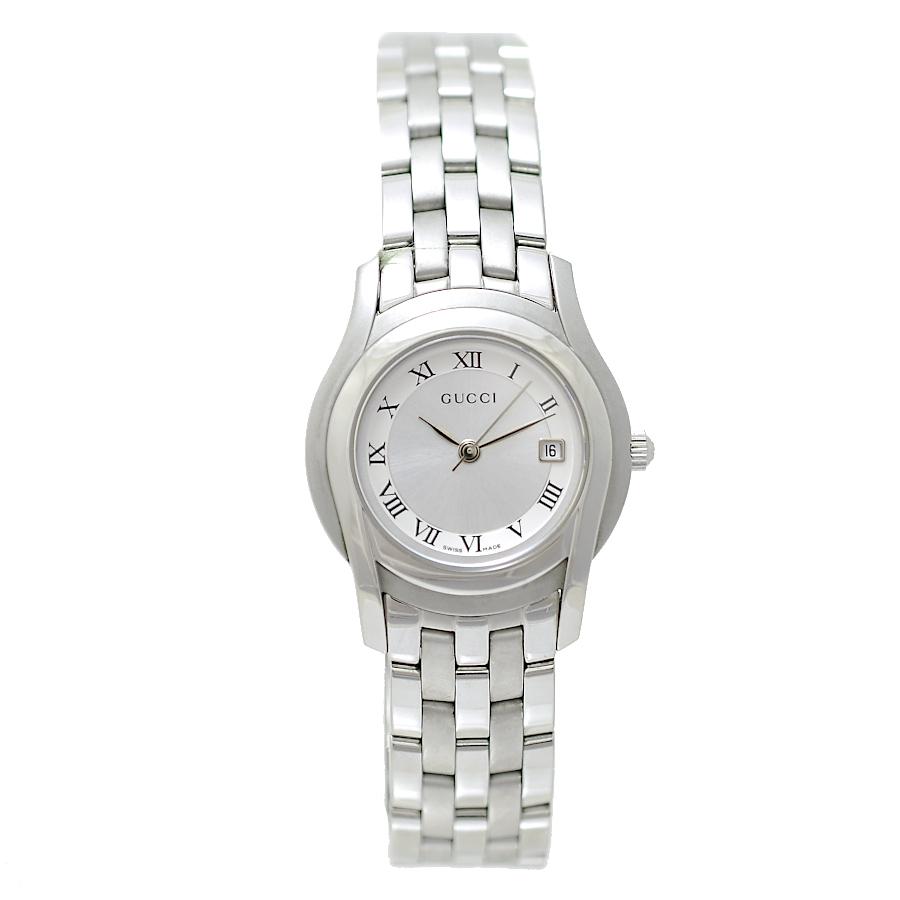 [中古]グッチ 腕時計 Gクラス 5500L シルバー文字盤 ステンレススチール クオーツ レディース GUCCI [送料無料]