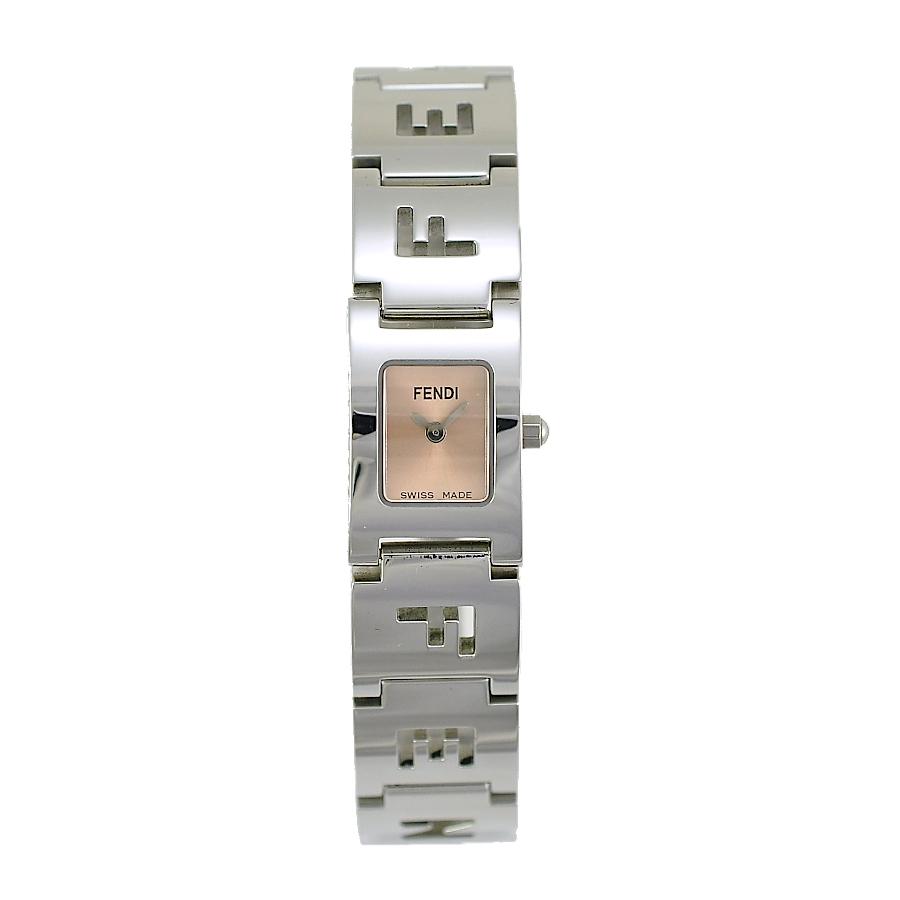[中古]フェンディ 腕時計 3150L ピンク文字盤 クォーツ ステンレススチール シルバー レディース FENDI [送料無料]