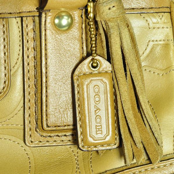 COACH/教练/信号皮革手提包/1万1639/骆驼