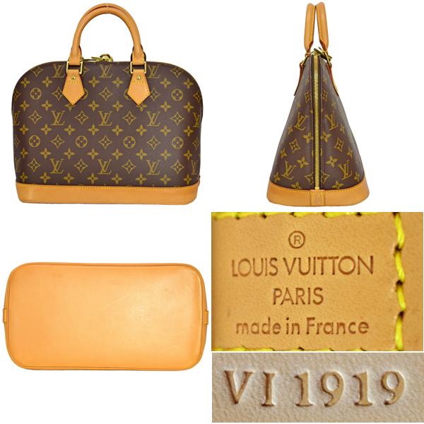 a1cd2701bc1d  Free shipping   Pre  ♢ Louis Vuitton  Louis Vuitton   Monogram   Alma   M51130   handbag bag leather handbag LV