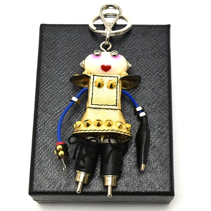【中古】プラダ ロボット キーホルダー ナンシー 1ARH67 PRADA [送料無料][美品]
