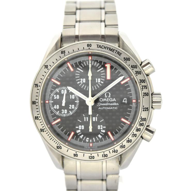 【中古】オメガ スピードマスター シューマッハ限定モデル メンズ腕時計 自動巻き ステンレススチール ブラック文字盤 3519.50 OMEGA[送料無料]