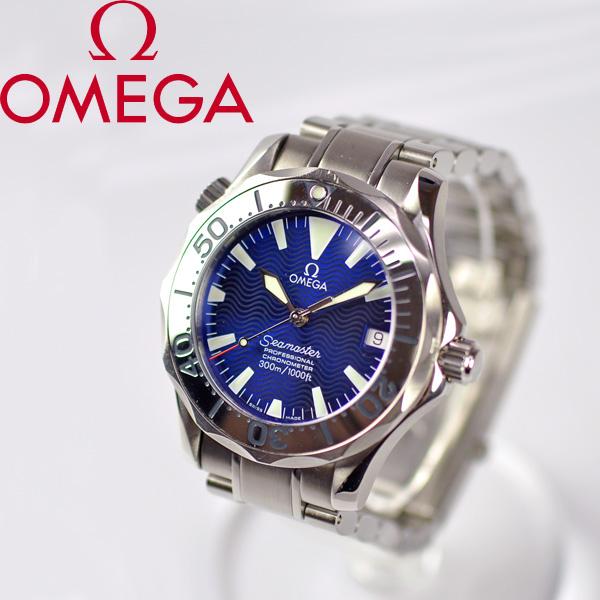OMEGA/奥米伽/海主人专业精密记时计/男孩手表/2252.80表盘蓝色自动卷[二手货]
