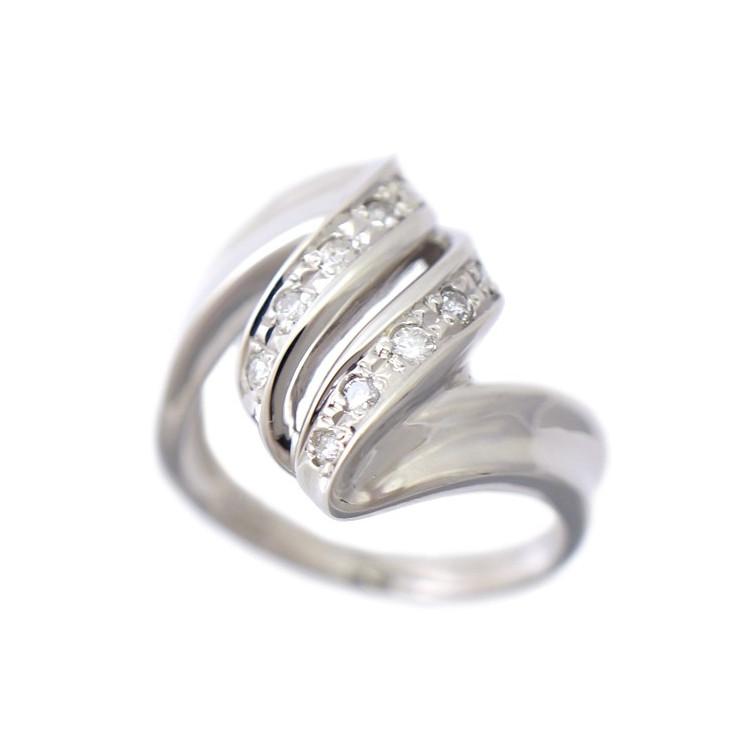 【中古】指輪 リング Pt850 ダイヤモンド 0.16ct 11号 レディース ジュエリー [送料無料]