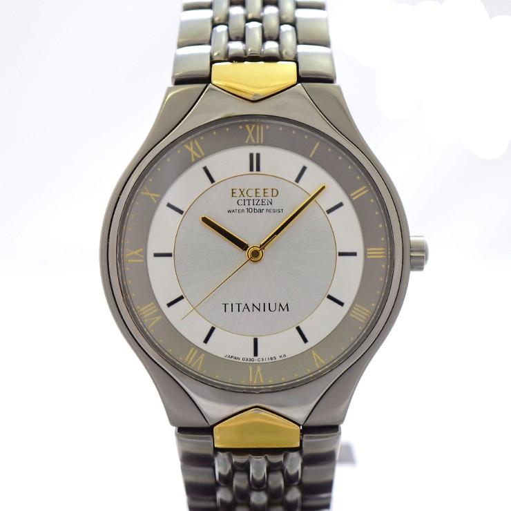 シチズン 腕時計 エクシード 0330-C30854 CITIZEN メンズ TITANIUM  【中古】【送料無料】