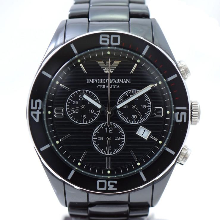 EMPORIO ARMANI エンポリオ アルマーニ クロノグラフ AR-1421 クォーツ 腕時計 メンズ 【中古】【送料無料】