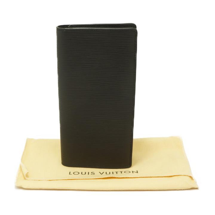 【中古】ルイヴィトン エピ ポルトフォイユブラザ M60622 長財布 メンズ ブラック レザー LOUIS VUITTON [送料無料]