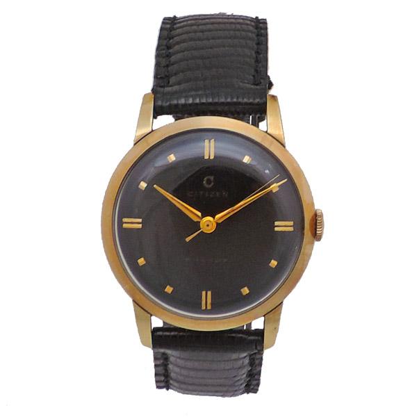 【中古】シチズン PHYNOX 腕時計 メンズ ブラック×ゴールド レザー×SS×GP 3ADJ170 CITIZEN [送料無料]