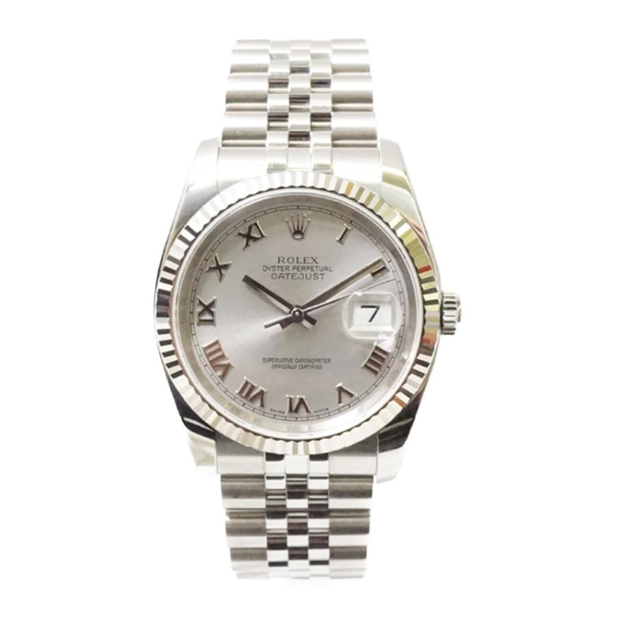 【キャッシュレス5%還元】【中古】ロレックス メンズ腕時計 デイトジャスト 116234 D番 ROLEX SS×WG 自動巻き シルバー文字盤 ROLEX [送料無料]