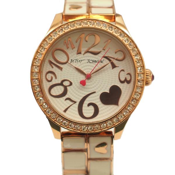 Betsey Johnson ベッツィ ジョンソン クォーツ レディース腕時計 BJ00198-03 【中古】【送料無料】