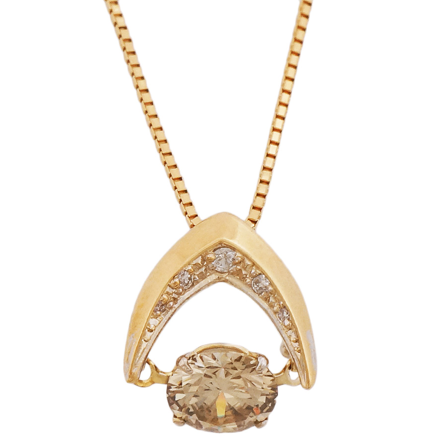 中古 捧呈 送料無料 美品 女性 アクセサリー ネックレス 宝石 ダイヤモンド ジュエリー 0.03ct レディース 揺れるダイヤモンドが輝きを放つペンダントです 送料0円 K18イエローゴールド 0.643ct ペンダント