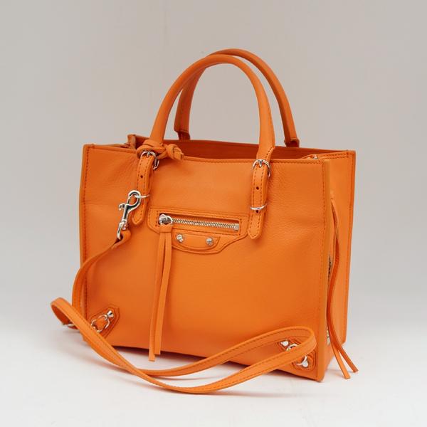 5cf498bd7e5fe Smile Group  BALENCIAGA   balenciaga   mini paper A4 zip around   Orange   shoulder  bag  used