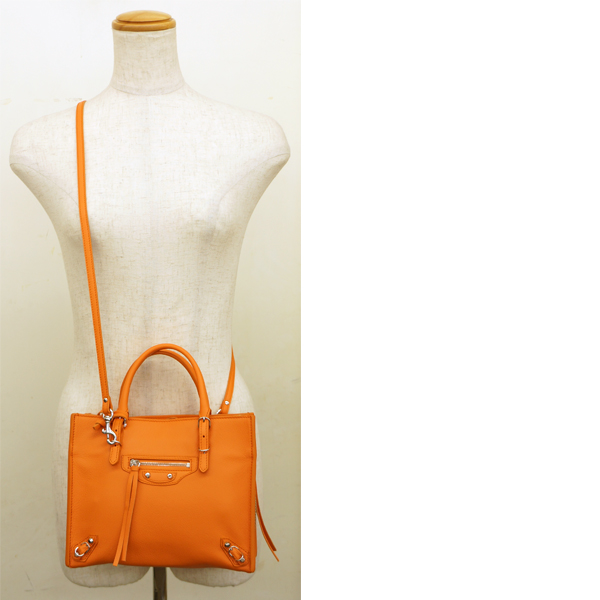 c03077baa0e53 BALENCIAGA   balenciaga   mini paper A4 zip around   Orange   shoulder bag   used