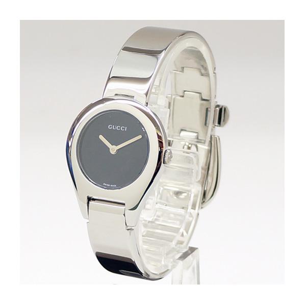 GUCCI グッチ クォーツ レディース腕時計 6700L バングルウォッチ 黒文字盤 【中古】【送料無料】
