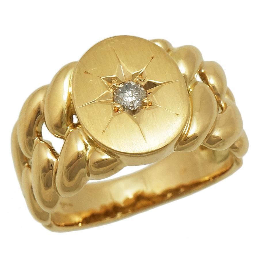 中古 送料無料 美品 女性 アクセサリー 指輪 特価品コーナー☆ リング 新品■送料無料■ 宝石 K18 18金 レディース ジュエリー K18イエローゴールド 指先からオシャレに見せるダイヤモンドリングです 0.10ct イエローゴールド ダイヤモンド 幅が太めのデザインなので 13号