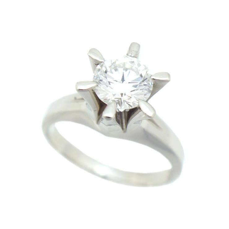 【キャッシュレス5%還元】【中古】指輪 リング Pt900 ダイヤモンド 1.116ct ソーティング付 1粒ダイヤ [送料無料]