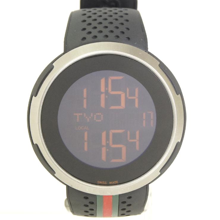 timeless design 0c416 f8314 グッチ メンズ腕時計 アイグッチスポーツ YA114103(114.1) GUCCI SS×ラバー  クオーツ【中古】【送料無料】【美品】|ブランドリサイクルストアスマイル