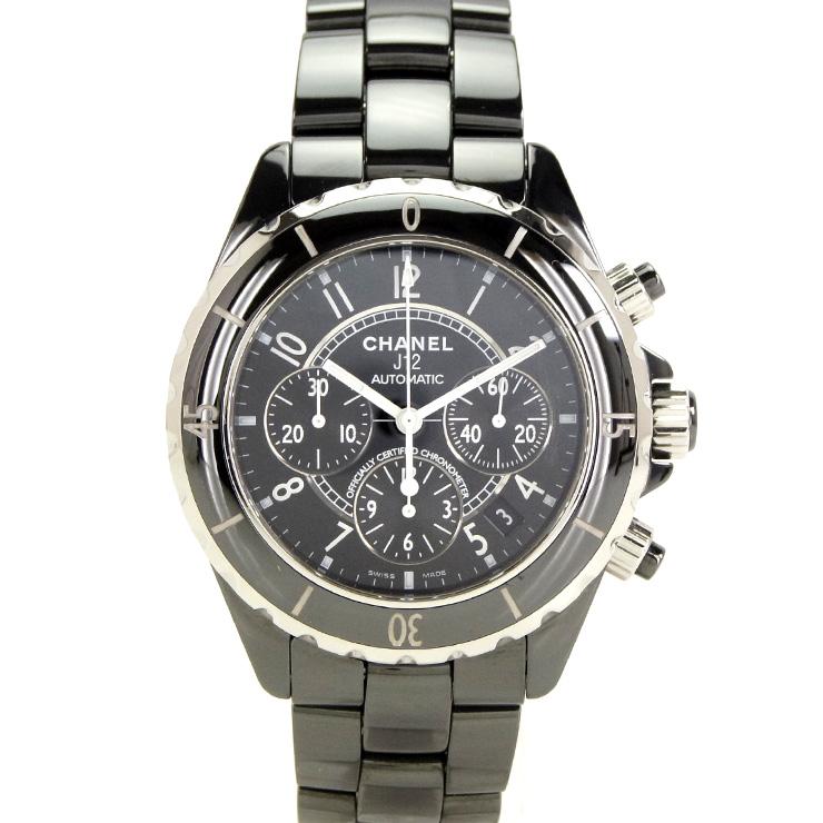 【30%OFF】 CHANEL シャネル J12 ブラック メンズ腕時計 クロノグラフ オートマ H0940 【】【送料無料】, オシノムラ c4a1042e