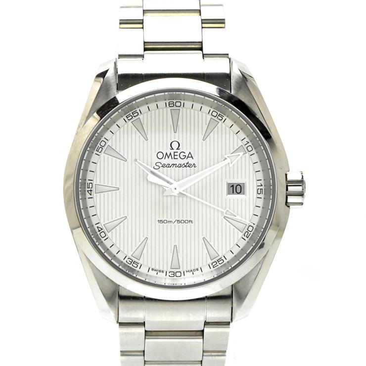 【中古】オメガ シーマスターアクアテラ メンズ 腕時計 クオーツ ステンレススチール 白文字盤 231.10.39.60.02.001 OMEGA [送料無料][美品]