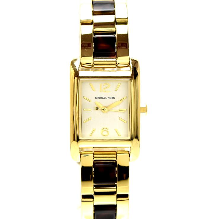 【中古】マイケルコース テイラー レディース 腕時計 ステンレススチール ライトゴールド文字盤 MK-4277 MICHAEL KORS [送料無料][美品]