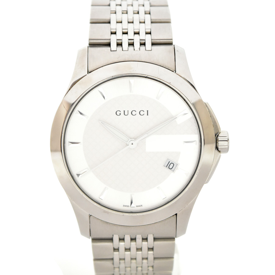 【中古】グッチ Gタイムレス メンズ 腕時計 クオーツ ステンレススチール YA126402(126.4) GUCCI[送料無料]