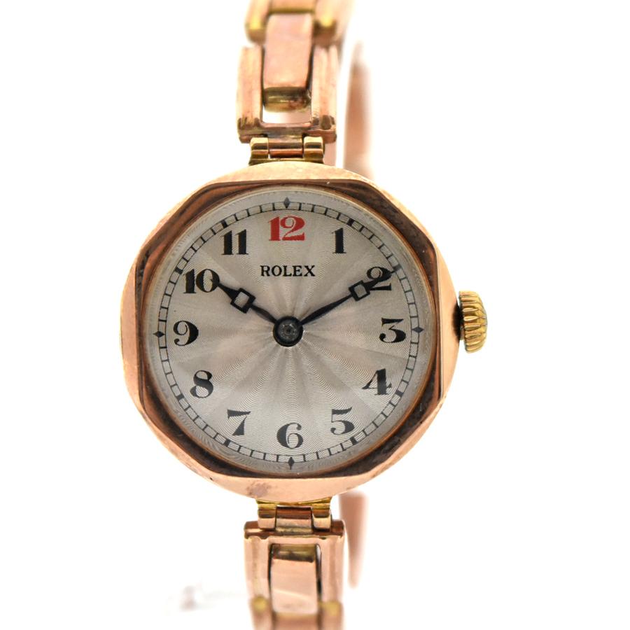 【キャッシュレス5%還元】【中古】ロレックス アンティーク レディース 腕時計 手巻き K9 シルバー文字盤 ROLEX[送料無料]