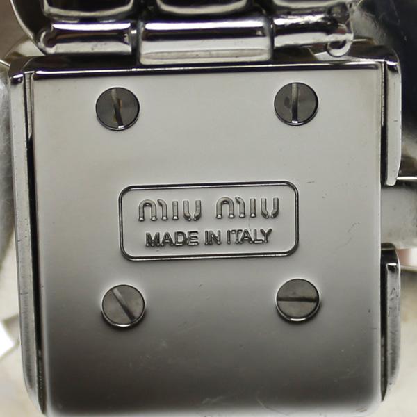 MIU MIU/myumyu/furawamochifubijuburesuretto/粉红/女士
