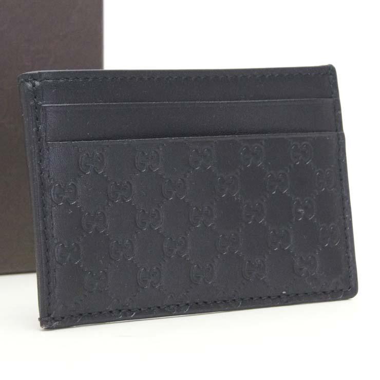 【中古】グッチ カードケース シマライン 282089 GUCCI ブラック【送料無料】【未使用品】