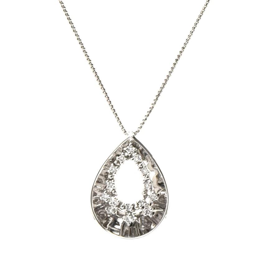 中古 送料無料 美品 ジュエリー パーティー お呼ばれ 数量は多 女性 NC レディース 0.16ct 推奨 ダイヤモンド ペンダント 重量5g K18WG